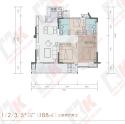 建面约88㎡三房两厅两卫