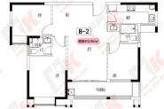 建面约106㎡三房两厅两卫